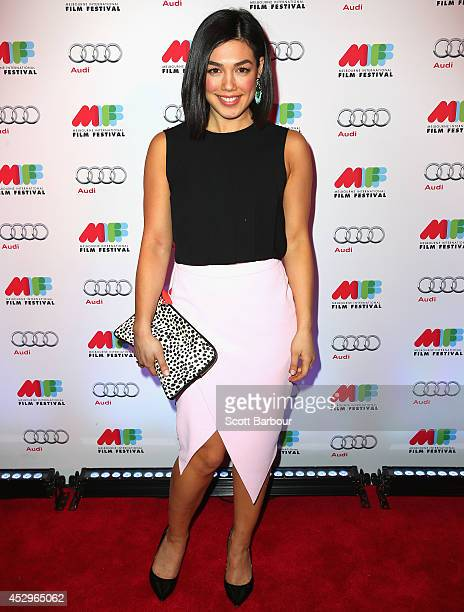 Melanie Vallejo attends the opening night of the 63rd Melbourne International Film Festival at Hamer Hall on July 31 2014 in Melbourne Australia