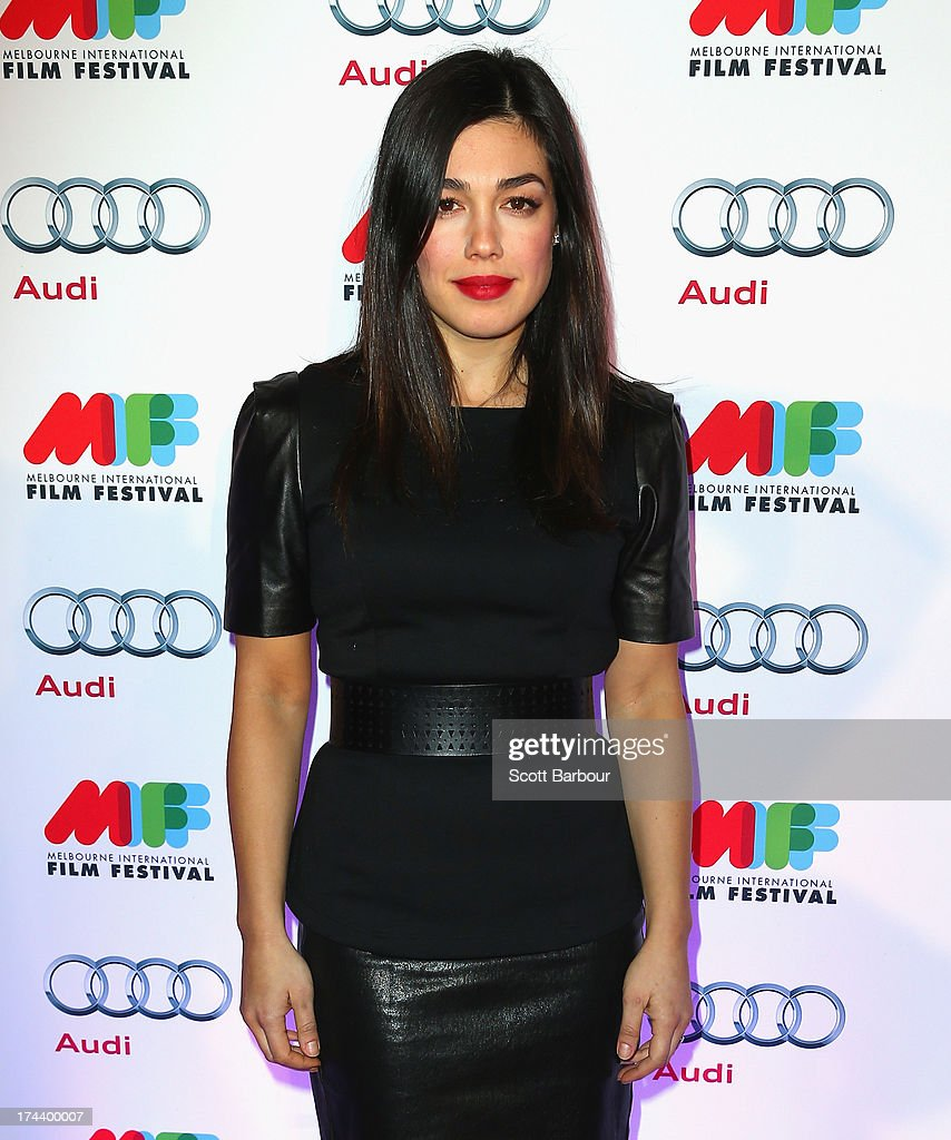 Melanie Vallejo from Winners & Losers arrives at the Australian premiere of 'I'm So Excited' on opening night of the Melbourn International Film Festival at Hamer Hall on July 25, 2013 in Melbourne, Australia.