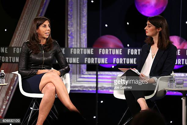 Melanie Whelan and Beth Kowitt speak onstage during the One on One The Business of Performance panel at Fortune MPW Next Gen 2016 on November 29 2016...
