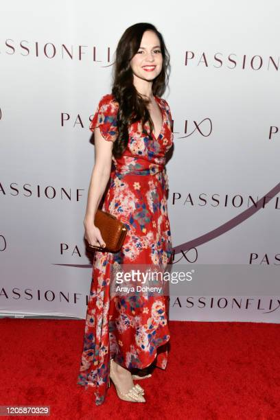 Melanie Zanetti attends Passionflix's The Will Los Angeles Premiere on February 12 2020 in Culver City California