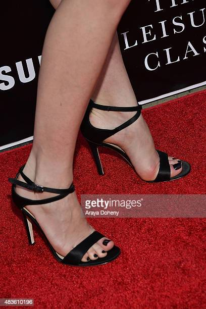 Melanie Zanetti shoe detail attends the Adaptive Studios and HBO present The Project Greenlight Season 4 Winning Film The Leisure Class at The...