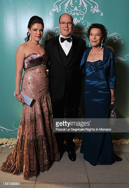 MelanieAntoinette Costello de Massy Prince Albert II of Monaco and ElisabethAnne de Massy attend the Nights In Monaco Gala Fundraiser Cocktail...