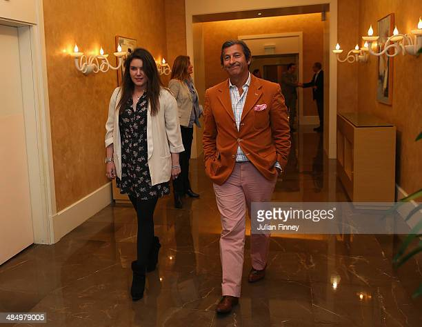 MelanieAntoinette de Massy arrives at the ATP heritage event celebrating 25 years partnership between the ATP and Monte Carlo Masters during day...