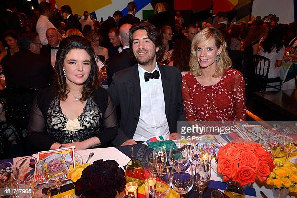 MelanieAntoinette de Massy JeanMathieu Labry and Madame Georgio Brusnelli attend the Rose Ball 2014 in aid of the Princess Grace Foundation at...