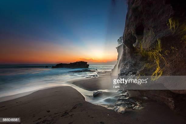 Melasti beach waterfall