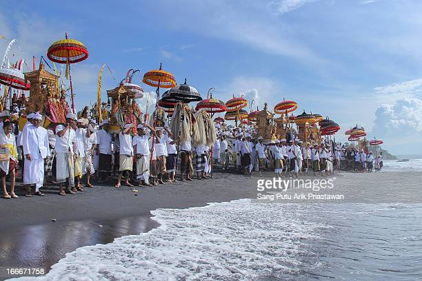 CONTENT] Melasti tradition is a tradition that hindu people do before silent day Peope go to beach or river to purify their souls