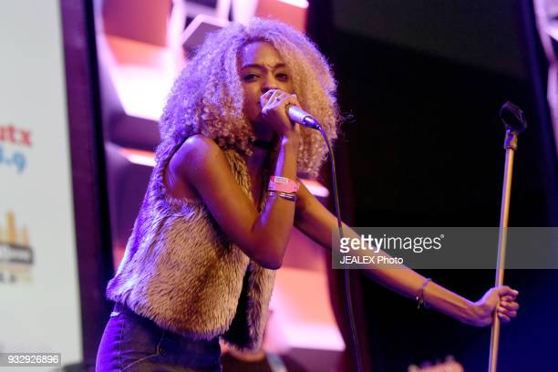 Melat performs at Radio Day Stage during SXSW at Radio Day Stage on March 16 2018 in Austin Texas