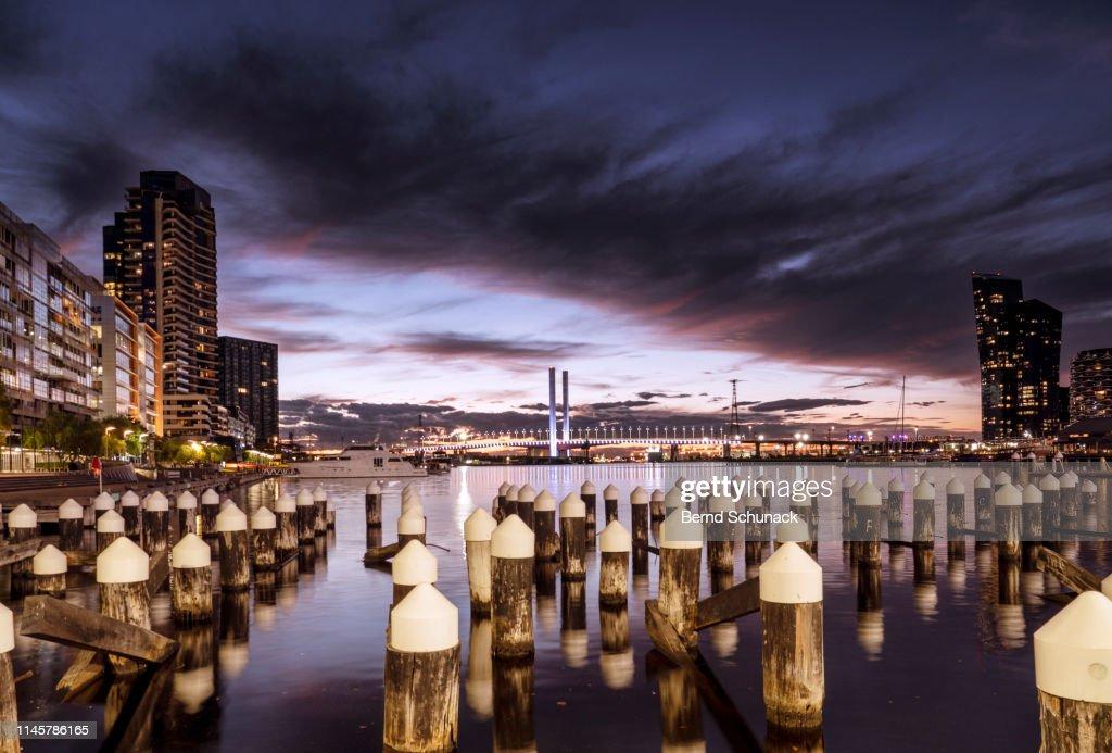 Melbourne at Dusk : Stock-Foto