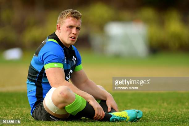 Melbourne Australia 12 June 2018 Dan Leavy during Ireland rugby squad training at St Kevin's College in Melbourne Australia