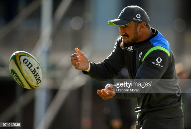 Melbourne Australia 14 June 2018 Bundee Aki during Ireland rugby squad training at St Kevin's College in Melbourne Australia