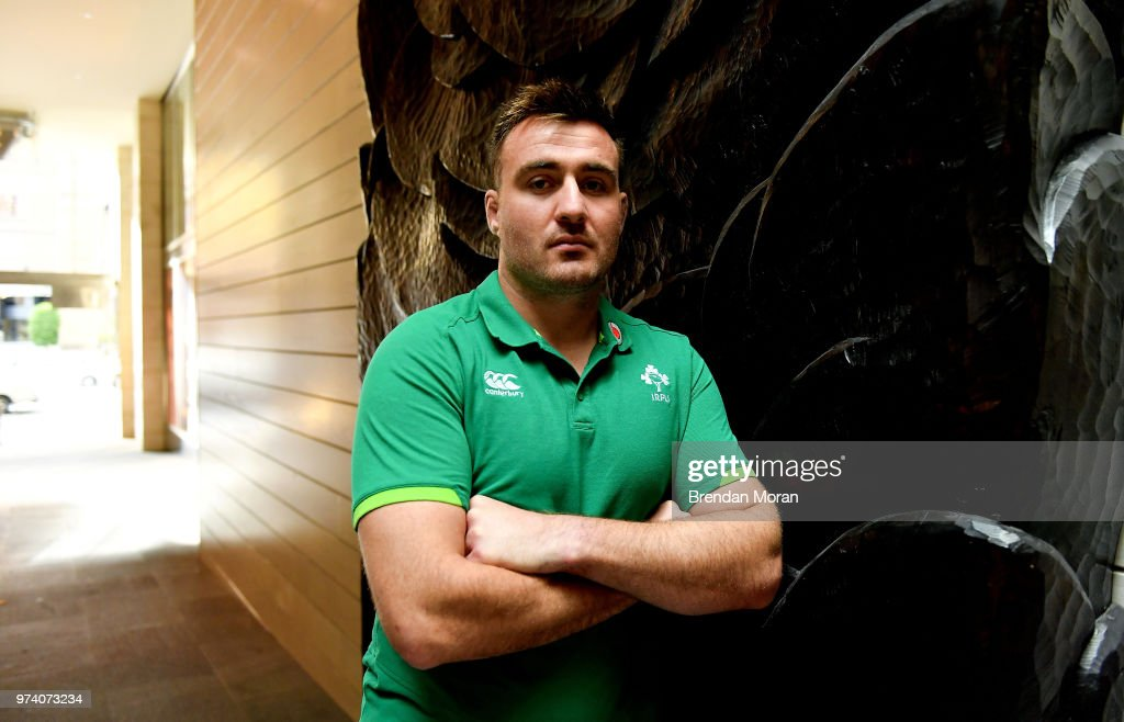 Melbourne , Australia - 14 June 2018; Niall Scannell poses for a portrait after an Ireland rugby press conference in Melbourne, Australia.