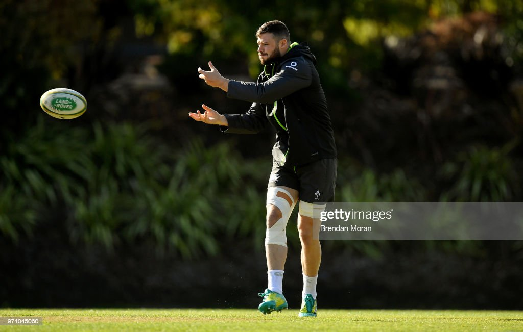 Melbourne , Australia - 14 June 2018; Robbie Henshaw during Ireland rugby squad training at St Kevin's College in Melbourne, Australia.
