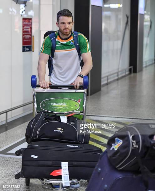 Melbourne Australia 6 November 2017 Chris Barrett as the 2017 Ireland International Rules Squad arrive in Melbourne at Melbourne Airport in Australia