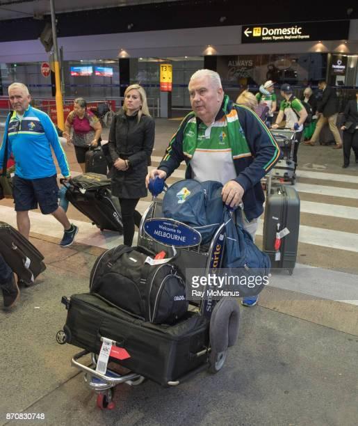 Melbourne Australia 6 November 2017 Manager Joe Kernan as the 2017 Ireland International Rules Squad arrive in Melbourne at Melbourne Airport in...