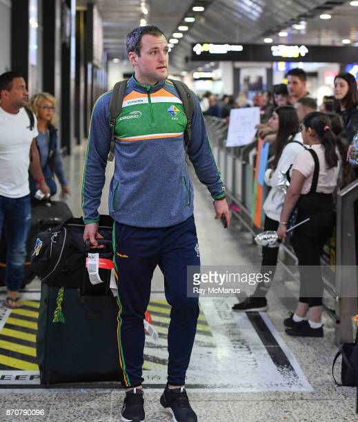 Melbourne Australia 6 November 2017 Michael Murphy as the 2017 Ireland International Rules Squad arrive in Melbourne at Melbourne Airport in Australia