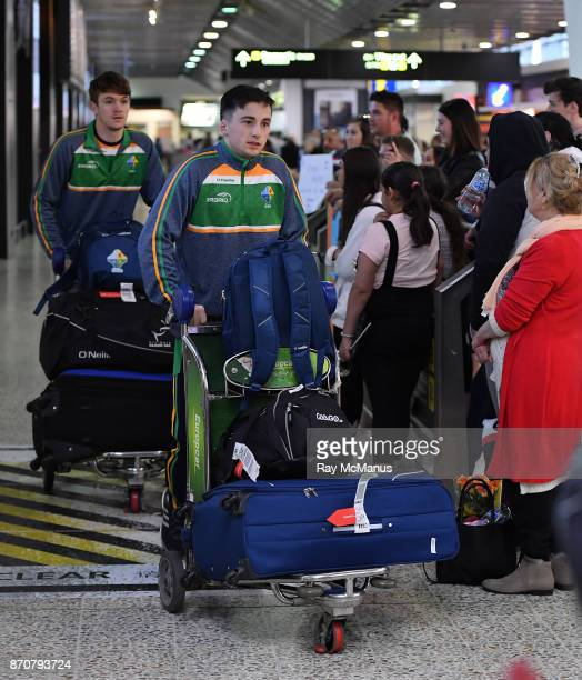 Melbourne Australia 6 November 2017 Paul Murphy as the 2017 Ireland International Rules Squad arrive in Melbourne at Melbourne Airport in Australia