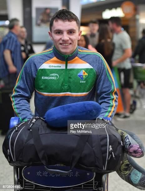 Melbourne Australia 6 November 2017 Sean Powter as the 2017 Ireland International Rules Squad arrive in Melbourne at Melbourne Airport in Australia