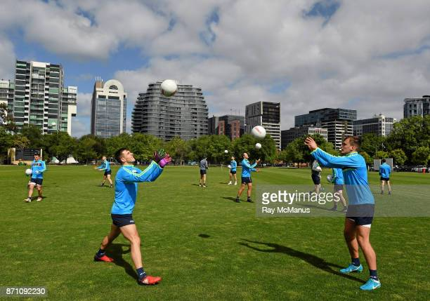Melbourne Australia 7 November 2017 Niall Murphy left and Enda Smith during Ireland International Rules squad training at Wesley College St Kilda...