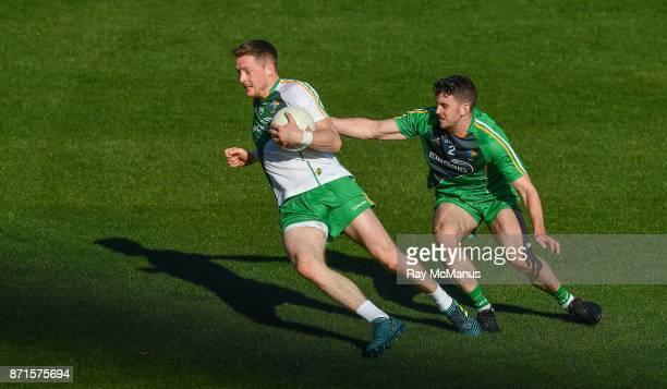 Melbourne Australia 8 November 2017 Conor McManus left and Brendan Harrison during an intersquad Ireland International Rules training game at Punt...