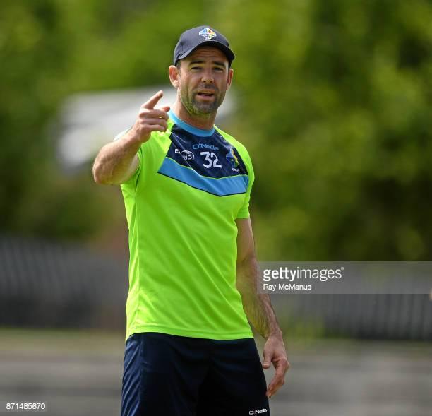Melbourne Australia 8 November 2017 Dermot Earley talking during Ireland International Rules squad training at Lakeside Stadium Albert Park Melbourne...