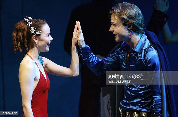Chloe Armstrong who plays Juliet and Julian Garner Romeo in the Bell Shakespeare Company production of Romeo and Juliet perform in their final dress...