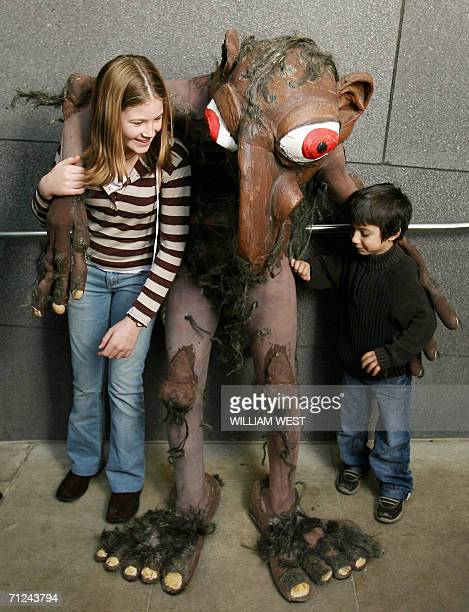Giant puppets from the Snuff Puppets company wander around the Melbourne Museum whose Aboriginal Cultural Centre Bunjilaka is using the puppets to...