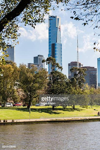 melbourne, australia - river yarra stock-fotos und bilder