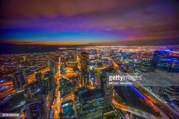 Melbourne blue hour dusk