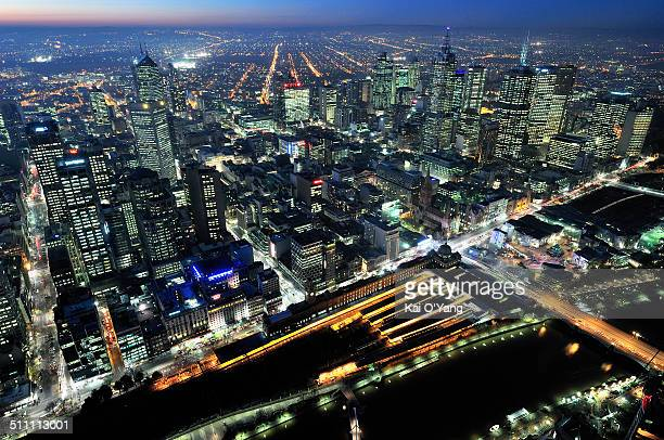Melbourne CBD from above