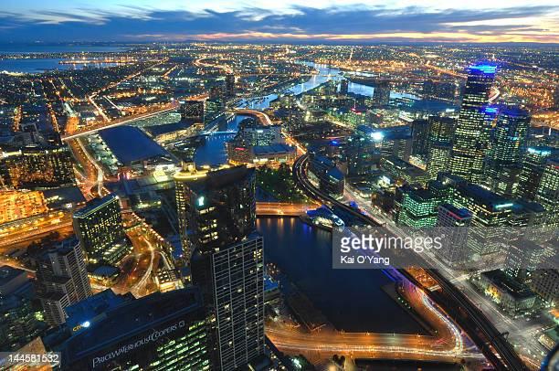 Melbourne CBD sunset