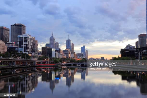 melbourne central business district, victoria, australia - ヤラ川 ストックフォトと画像