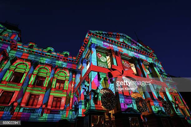 melbourne christmas - projection stock pictures, royalty-free photos & images
