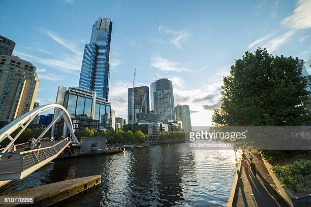 Melbourne city and Yarra river in Victoria, Australia