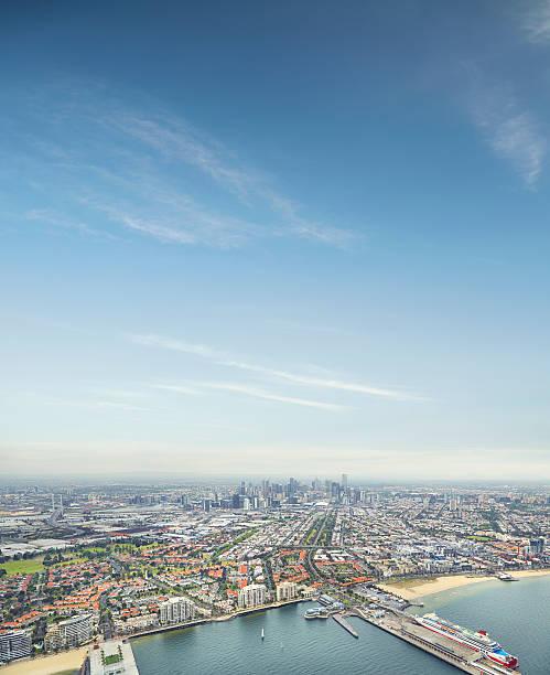 Melbourne City Ariel skyline