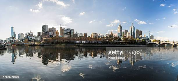 Melbourne city by the Yarra River, Melbourne, Australia