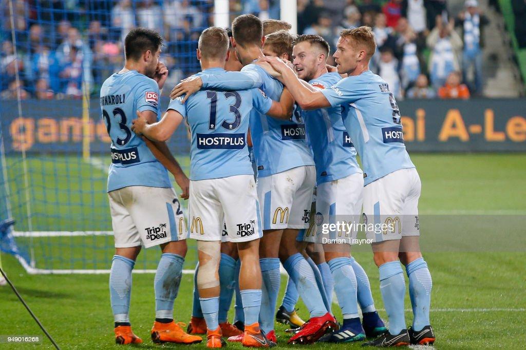 A-League Elimination Final - Melbourne v Brisbane : News Photo