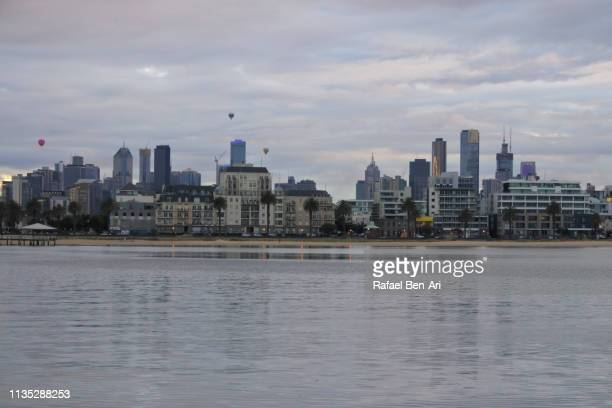 Melbourne city skyline at dawn