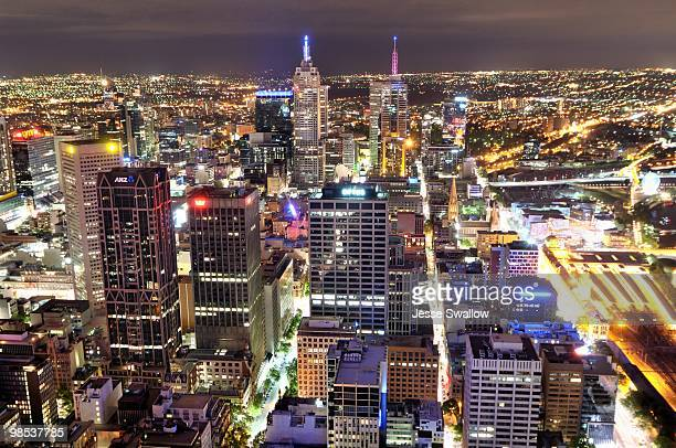 Melbourne City Skyline by Night