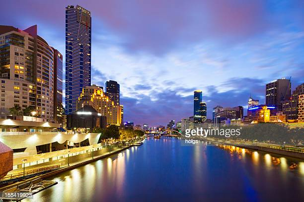 Melbourne City Skyline: Southbank and the Yarra River