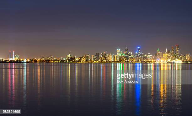 Melbourne city view from Williamstown, Australia