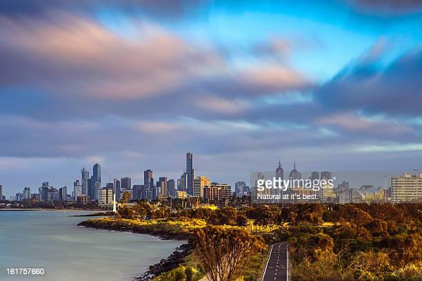 Melbourne city view