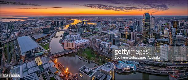 Melbourne city view, Victoria, Australia