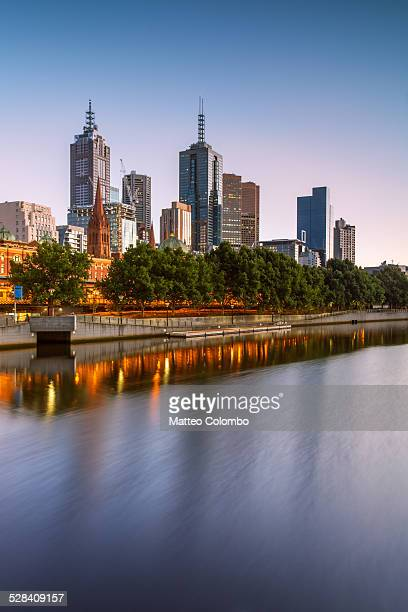 Melbourne cityscape at sunrise