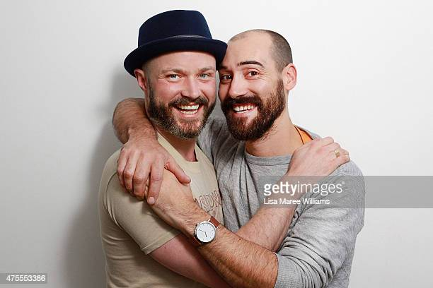 Melbourne couple Steven Curry and Anthony Rebelo pose during a portrait session on June 1 2015 in Sydney Australia Steven and Anthony first met in a...
