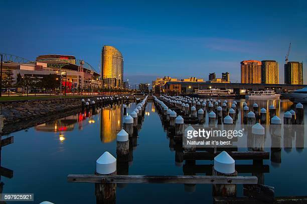 Melbourne dockland sunset