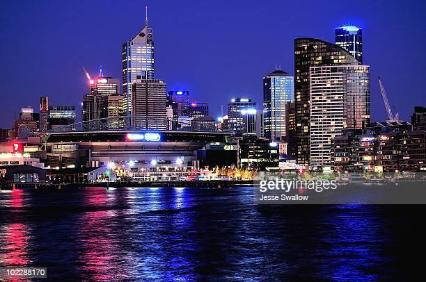 Melbourne Docklands City Skyline by Night