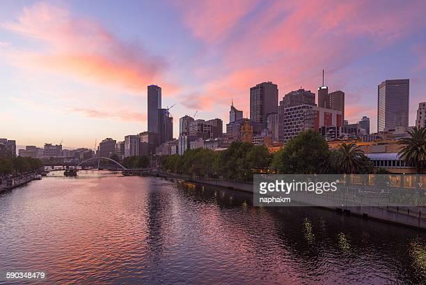 Melbourne during sunset