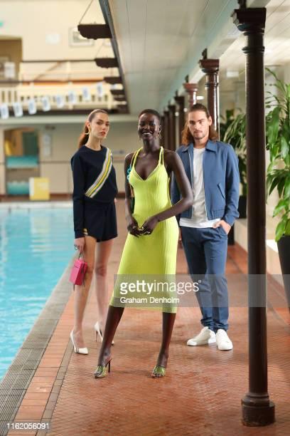 Melbourne Fashion Week Ambassador Adut Akech poses during the Melbourne Fashion Week Ambassador announcement at Melbourne City Baths on July 15, 2019...