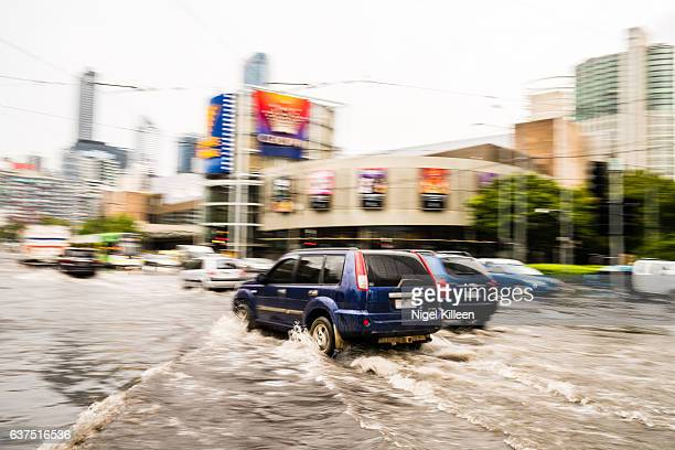 melbourne flood - melbourne storm stockfoto's en -beelden