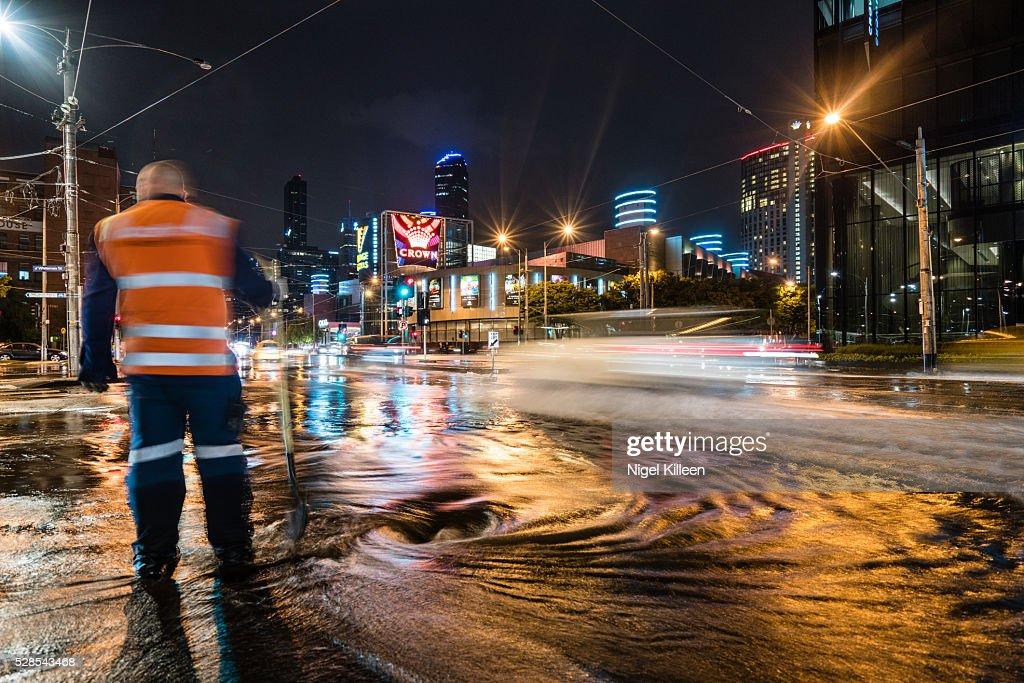 Melbourne Floods : Stock Photo